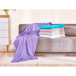 Bavlnená deka Dormeo Terry, 220x220 cm, tyrkysová